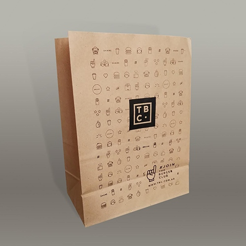 bolsa delivery papel sin manija