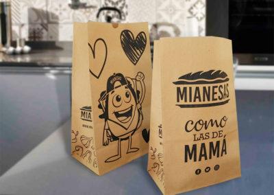 bolsas delivery papel con fuelle sin manija