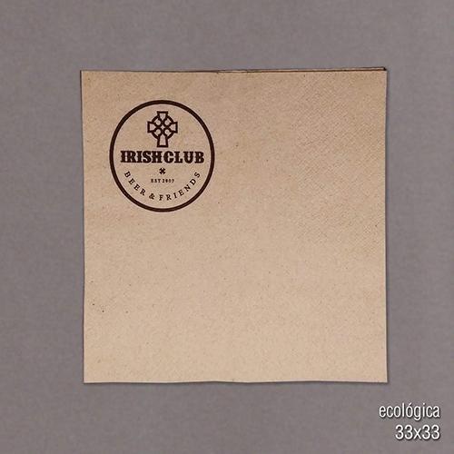servilleta papel ecologica impresa con logo