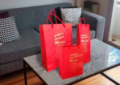 bolsas de papel con manija impresas